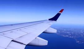 mening van vliegtuig Stock Fotografie