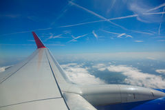Mening van vliegtuig Royalty-vrije Stock Afbeelding