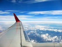 Mening van vliegtuig vindow Stock Afbeelding