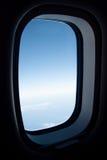 Mening van vliegtuigvenster Stock Foto's