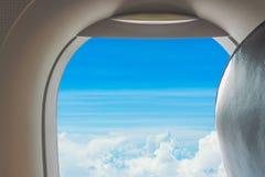 Mening van vliegtuigvenster Royalty-vrije Stock Foto's