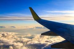 Mening van vliegtuigvenster stock fotografie