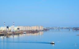 Mening van Volga rivier Stock Fotografie