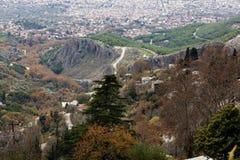 Mening van Volos-stad Stock Foto