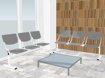 Mening van wachtkamer in een bureauhal vector illustratie
