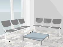 Mening van wachtkamer in een bureauhal royalty-vrije illustratie
