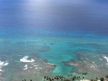 Mening van Wakiki-Baai, Hawaï Stock Afbeelding