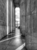 Mening van Washington Monument en U S capitol Stock Afbeelding