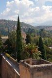 Mening van Watchtower van Alhambra, Granada, Spanje stock foto