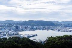 Mening van Wellington van de binnenstad Royalty-vrije Stock Foto