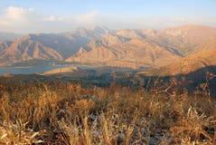 Mening van Westelijk Tien Shan Stock Foto