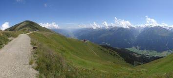 Mening van Wildkogel, Oostenrijk Stock Afbeelding