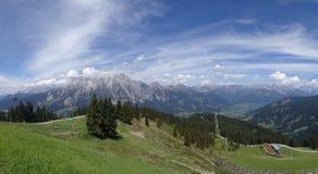 Mening van Wildkogel, Oostenrijk Stock Fotografie