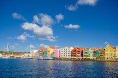 Mening van Willemstad Curacao, Antillen van Nederland Royalty-vrije Stock Foto's