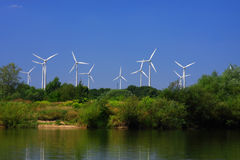 Mening van windmolens Royalty-vrije Stock Fotografie