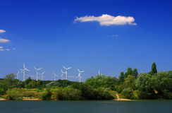 Mening van windmolens Royalty-vrije Stock Foto