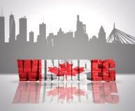 Mening van Winnipeg stock afbeelding
