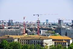 Mening van wolkenkrabbers en gebouwen Royalty-vrije Stock Afbeeldingen