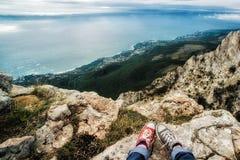 Mening van Yalta van plateau ai-Petri royalty-vrije stock fotografie