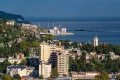 Mening van Yalta van de kabelwagen Stock Afbeeldingen