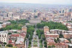 Mening van Yerevan centrum, Armenië Stock Afbeelding