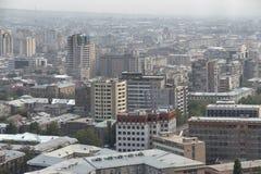 Mening van Yerevan, de hoofdstad van Armenië Stock Foto's