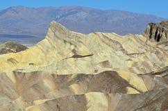 Mening van Zabriske-Punt, Doodsvallei, Californië Royalty-vrije Stock Afbeelding