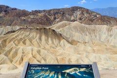 Mening van Zabriskie-Punt, Californië, de V.S. stock fotografie