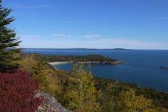 Mening van Zandstrand, het Nationale Park van Acadia Royalty-vrije Stock Foto's