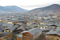 Mening van zhongdian of shangri-La Stock Foto