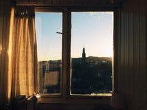 Mening van zonsondergang in Cork, Ierland Royalty-vrije Stock Afbeeldingen
