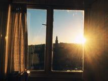 Mening van zonsondergang in Cork, Ierland Royalty-vrije Stock Fotografie