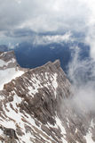 Mening van Zugspitze, Duitsland Stock Foto's