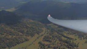 Mening van zweefvliegtuigcockpit stock footage