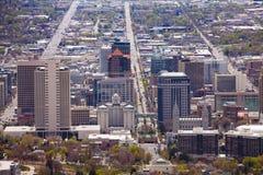 Mening vanaf bovenkant van de het Capitoolbouw van Utah, de V.S. Stock Afbeelding