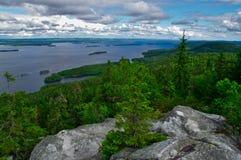 Mening vanaf bovenkant van Koli National-park stock fotografie