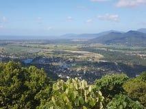 Mening vanaf de bovenkant de berg Stock Afbeeldingen
