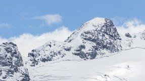 Mening vanaf de bovenkant van beroemd Italiaans Stelvio High Alpine Road Royalty-vrije Stock Afbeelding