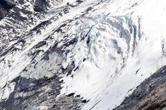 Mening vanaf de bovenkant van beroemd Italiaans Stelvio High Alpine Road Stock Fotografie