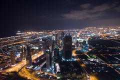 Mening vanaf de Bovenkant van Burj Khalifah Royalty-vrije Stock Afbeeldingen
