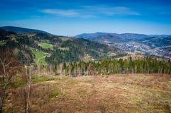 Mening vanaf de bovenkant van de berg Royalty-vrije Stock Fotografie