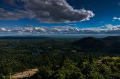 Mening vanaf de bovenkant van een berg in NY staat Stock Afbeelding