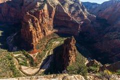 Mening vanaf de bovenkant van het landen van de Engel, Zion royalty-vrije stock fotografie