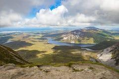 Mening vanaf de bovenkant van Onderstel Errigal, Co Donegal Stock Foto