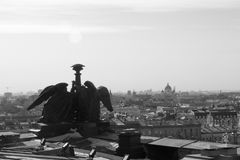 Mening vanaf de bovenkant van St Isaac Cathedral in St. Petersburg Stock Foto