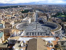 Mening vanaf de bovenkant van St. Peter basiliek, Rome Stock Fotografie