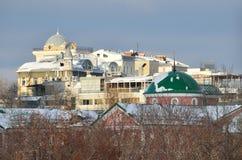 Mening voor de daken van Moskou in de winter royalty-vrije stock afbeeldingen