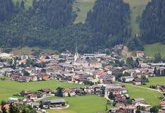 Mening in Zell am Ziller in Tirol, Oostenrijk stock afbeeldingen