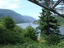 Meningen over de rivier van Colombia staat Oregon de V.S. Stock Foto's