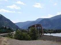 Meningen over de rivier van Colombia staat Oregon de V.S. Stock Afbeeldingen